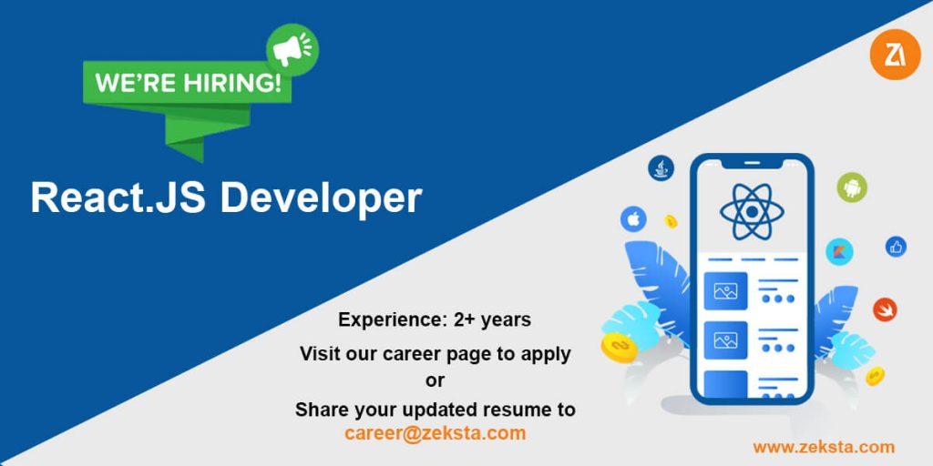 react.js developer job opening