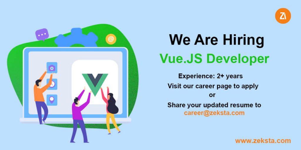vue.js job opening